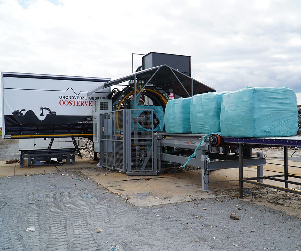 Mobile Baling Solution Offers a Flexible Solution & Improves Fire Safety at Waste Site